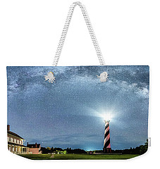 Cape Hatteras Light House Milky Way Panoramic Weekender Tote Bag