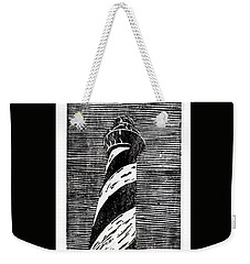 Weekender Tote Bag featuring the painting Cape Hatteras Lighthouse II by Ryan Fox
