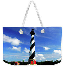 Weekender Tote Bag featuring the photograph Cape Hatteras Lighthouse by Meta Gatschenberger