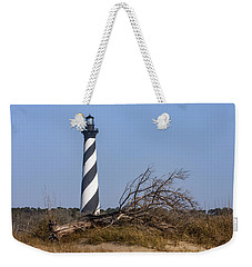 Cape Hatteras Lighthouse With Driftwood Weekender Tote Bag