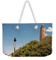 Cape Henry Lighthouses Old And New Weekender Tote Bag
