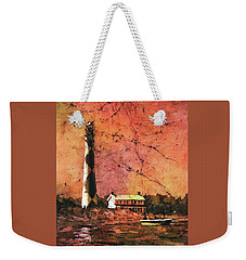 Cape Lookout Lighhtouse Weekender Tote Bag by Ryan Fox