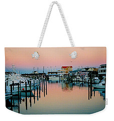 Weekender Tote Bag featuring the photograph Cape May After Glow by Steve Karol