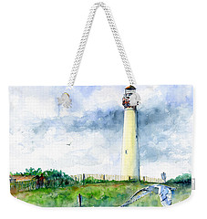 Cape May Lighthouse Weekender Tote Bag by John D Benson