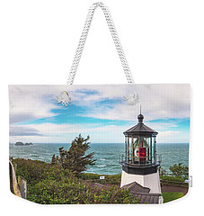 Weekender Tote Bag featuring the photograph Cape Meares Bright by Darren White