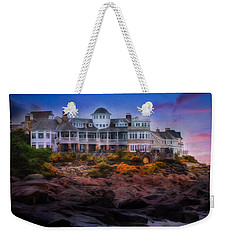 Weekender Tote Bag featuring the photograph Cape Neddick Maine Scenic Vista by Shelley Neff