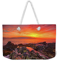 Weekender Tote Bag featuring the photograph Cape Neddick Sunrise by Raymond Salani III