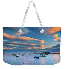 Weekender Tote Bag featuring the photograph Cape Porpoise Harbor At Sunset by Rick Berk
