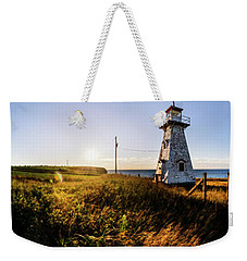 Weekender Tote Bag featuring the photograph Cape Tryon Light by Chris Bordeleau