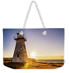 Cape Tryon Light Sunset Weekender Tote Bag