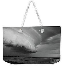 Weekender Tote Bag featuring the photograph Cape Tyron Vortex Black And White by Edward Fielding