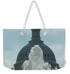 Capital Dome Behind Fountain Weekender Tote Bag