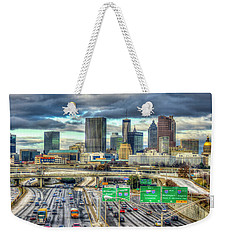 Capital Of The South Atlanta Skyline Cityscape Art Weekender Tote Bag
