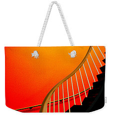 Weekender Tote Bag featuring the photograph Capital Stairs by Paul Wear