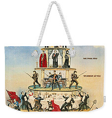 Capitalist Pyramid, 1911 - To License For Professional Use Visit Granger.com Weekender Tote Bag