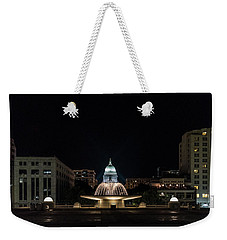 Capitol And Fountain Weekender Tote Bag by Randy Scherkenbach