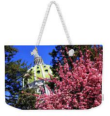 Capitol In Bloom Weekender Tote Bag by Shelley Neff