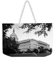 Capitol Lawn In Black And White Weekender Tote Bag
