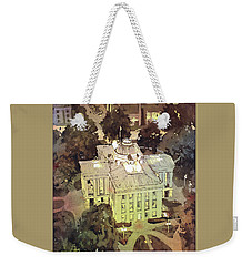 Weekender Tote Bag featuring the painting Capitol Of Stupid- Raleigh, Nc by Ryan Fox