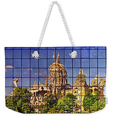 Weekender Tote Bag featuring the photograph Capitol Reflection - Iowa by Nikolyn McDonald