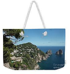 Faraglioni Rocks Capri  Weekender Tote Bag by Loriannah Hespe