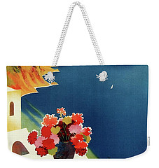 Capri Island Of The Sun - Italy Vintage Travel  1952 Weekender Tote Bag