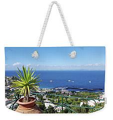 Capri Italy Weekender Tote Bag by Loriannah Hespe