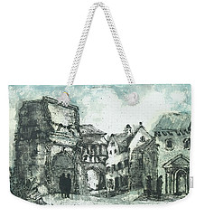 Weekender Tote Bag featuring the painting Capriccio After Piranesi by Martin Stankewitz