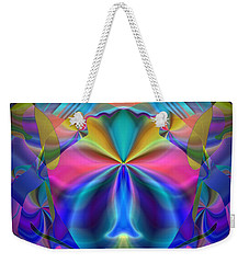 Weekender Tote Bag featuring the digital art Caprice by Lynda Lehmann