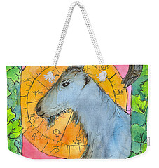 Weekender Tote Bag featuring the painting Capricorn by Cathie Richardson