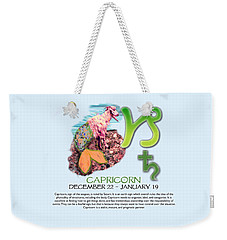 Capricorn Sun Sign Weekender Tote Bag