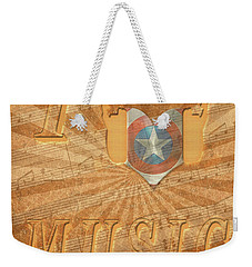 Captain America Lullaby Original Digital Weekender Tote Bag by Georgeta Blanaru