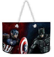 Captain America Vs Batman Weekender Tote Bag
