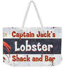 Captain Jack's Lobster Shack Weekender Tote Bag by Debbie DeWitt