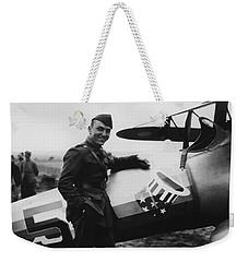 Captain Rickenbacker Painting Weekender Tote Bag