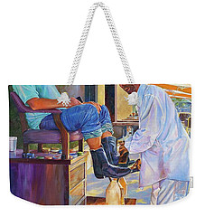Captain Shoe Shine Weekender Tote Bag by AnnaJo Vahle