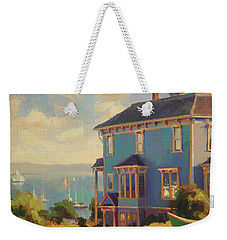 Weekender Tote Bag featuring the painting Captain's House by Steve Henderson