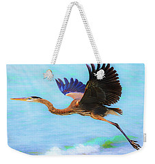 Captiva Crane In Flight Weekender Tote Bag