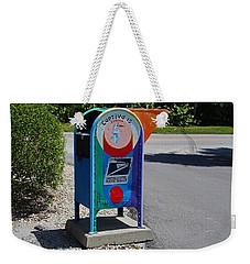 Weekender Tote Bag featuring the photograph Captiva Island Mailbox- Horizontal by Michiale Schneider