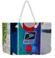 Weekender Tote Bag featuring the photograph Captiva Island Mailbox- Vertical by Michiale Schneider