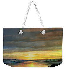 Captivating Sunset Over The Harbor Weekender Tote Bag by Judy Palkimas