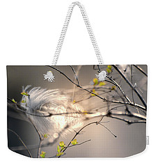 Captured Small Feather Weekender Tote Bag