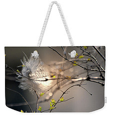 Captured Small Feather_02 Weekender Tote Bag by Vlad Baciu