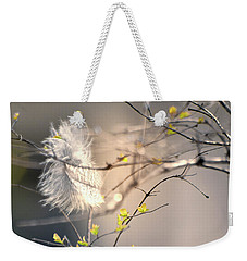 Captured Small Feather_03 Weekender Tote Bag