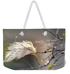 Captured Small Feather_04 Weekender Tote Bag