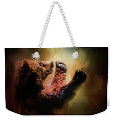 Capturing The Sun Bear Art Weekender Tote Bag