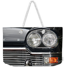 Weekender Tote Bag featuring the photograph Car Detail by Mary-Lee Sanders