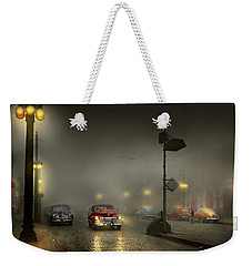 Weekender Tote Bag featuring the photograph Car - Down A Lonely Road 1940 by Mike Savad