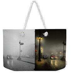 Weekender Tote Bag featuring the photograph Car - Down A Lonely Road 1940 - Side By Side by Mike Savad