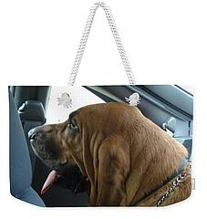 Car Ride Weekender Tote Bag by Val Oconnor
